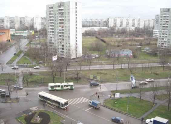 Пересечение улиц Конёнкова и Лескова декабрь месяц
