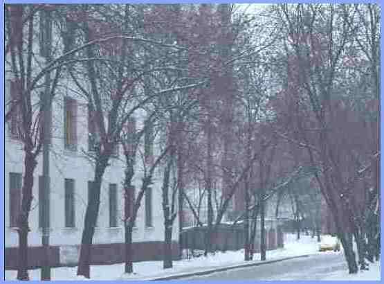 Москва. Улица Павла Корчагина. Здание школы