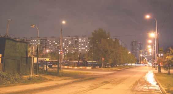 Алтуфьевское шоссе вечером