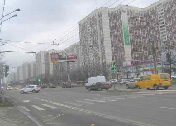 Перекрёсток Алтуфьевского шоссе улицы Пришвина и улицы Илимской