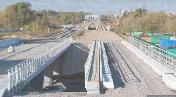Строительство моста через Яузу. Улица Вильгельма Пика